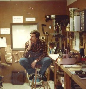 Guitar repair shop, 1983